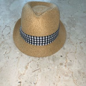 Sale‼️Fedora Hat with Black & White Checkered Band